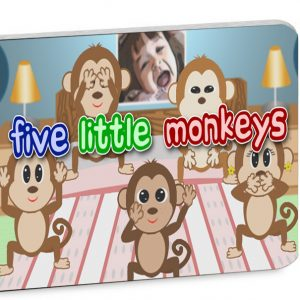 Five Little Monkeys illustrated nursery rhyme book