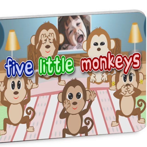 Five Little Monkeys illustrated nursery rhyme book